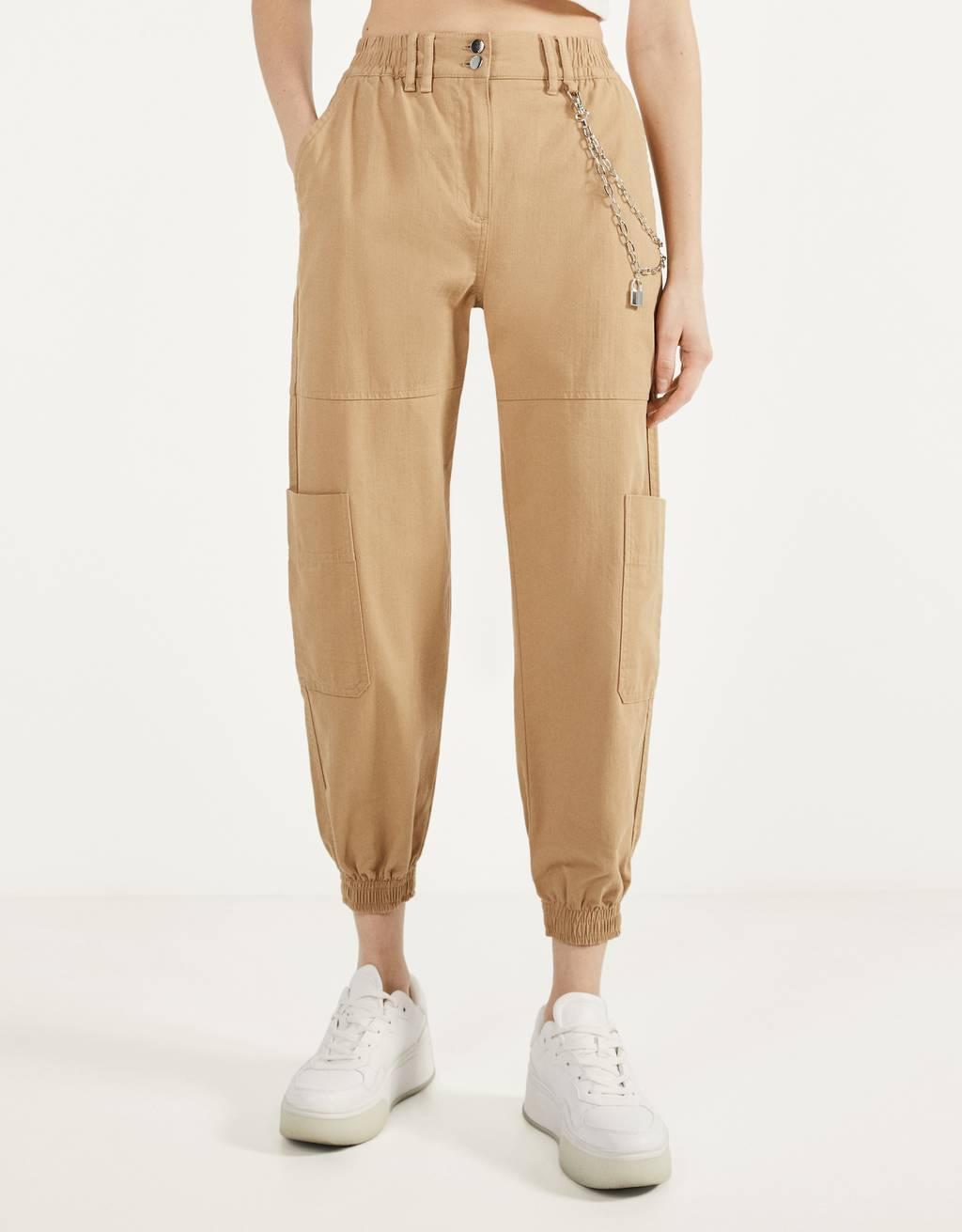 Taille haute blanc avec moutarde Côté À Rayures Large Évasé Jambe Pantalon Leggings