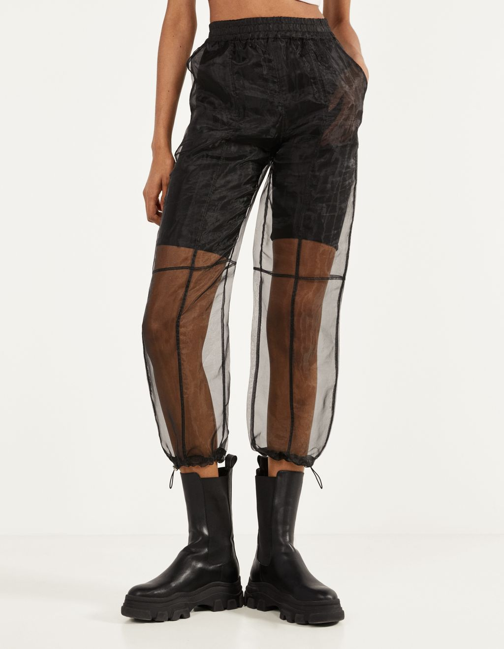 Organza jogging trousers