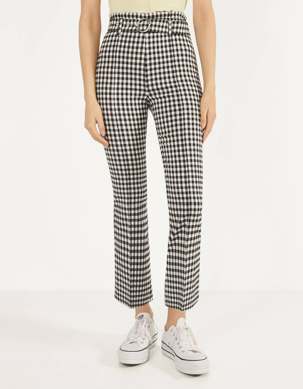 Kick Flare trousers with belt