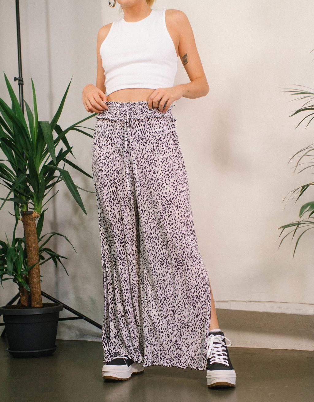 Pantalón culotte plisado