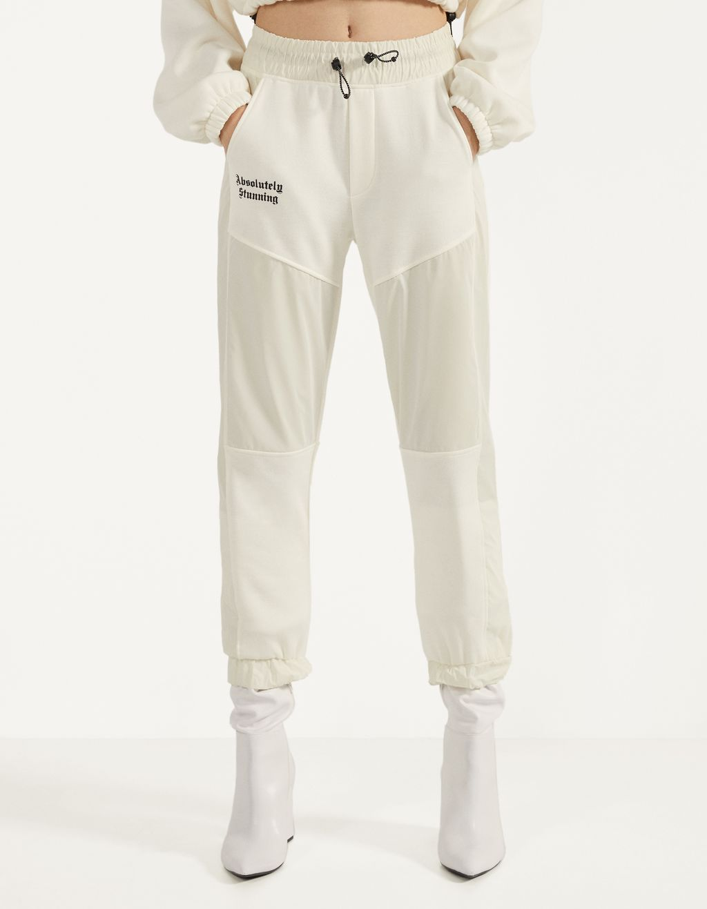 Jogging trousers with reflective side stripes