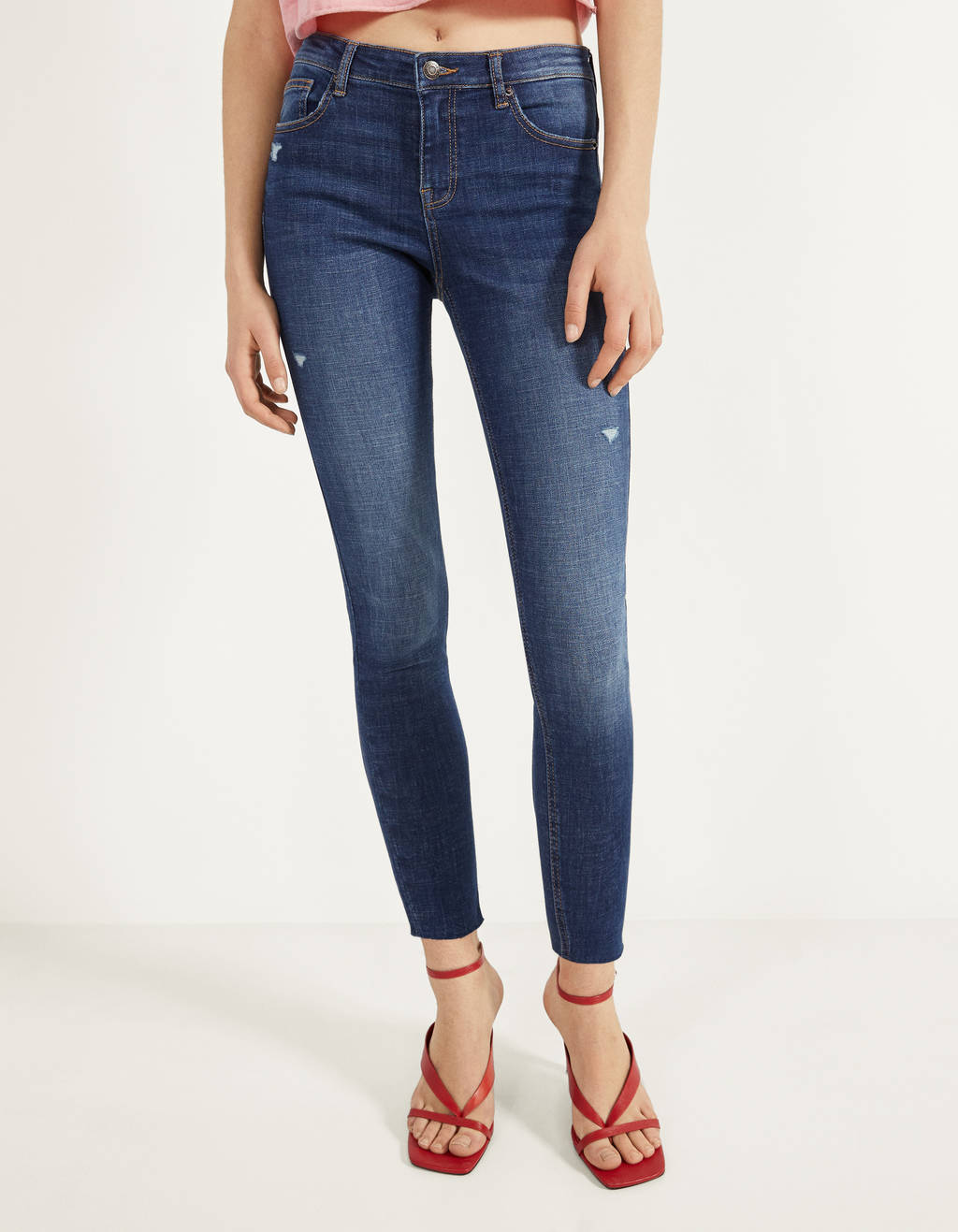 Jeans push up Mid Waist