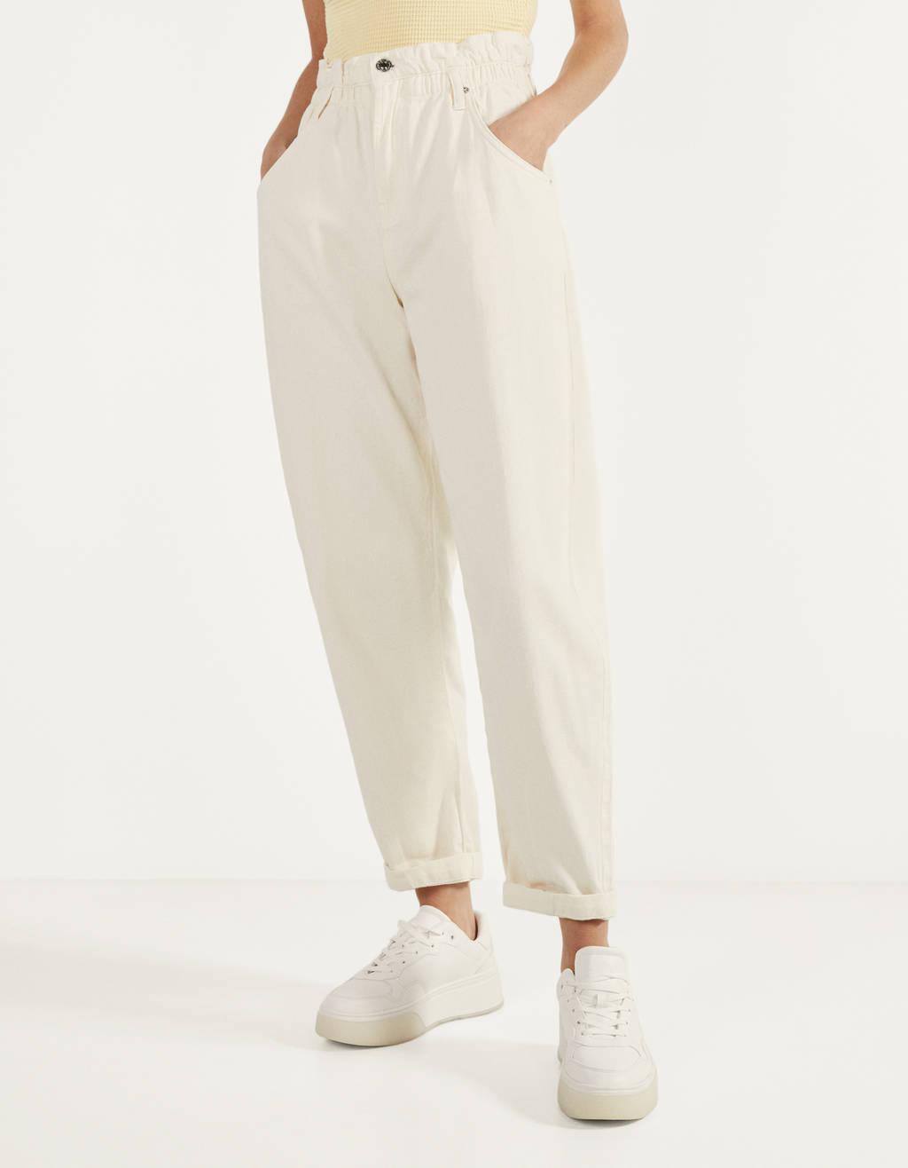 Slouchy broek met elastische tailleband