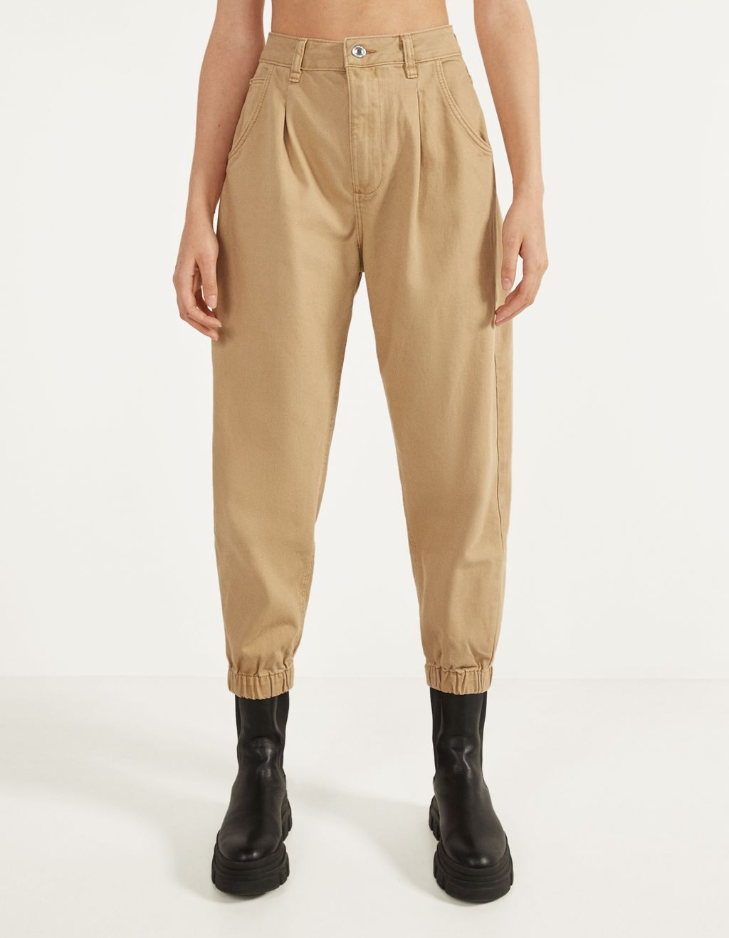 Elasticated slouchy trousers