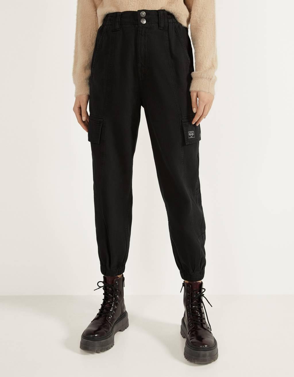 Sportinės kargo stiliaus kelnės