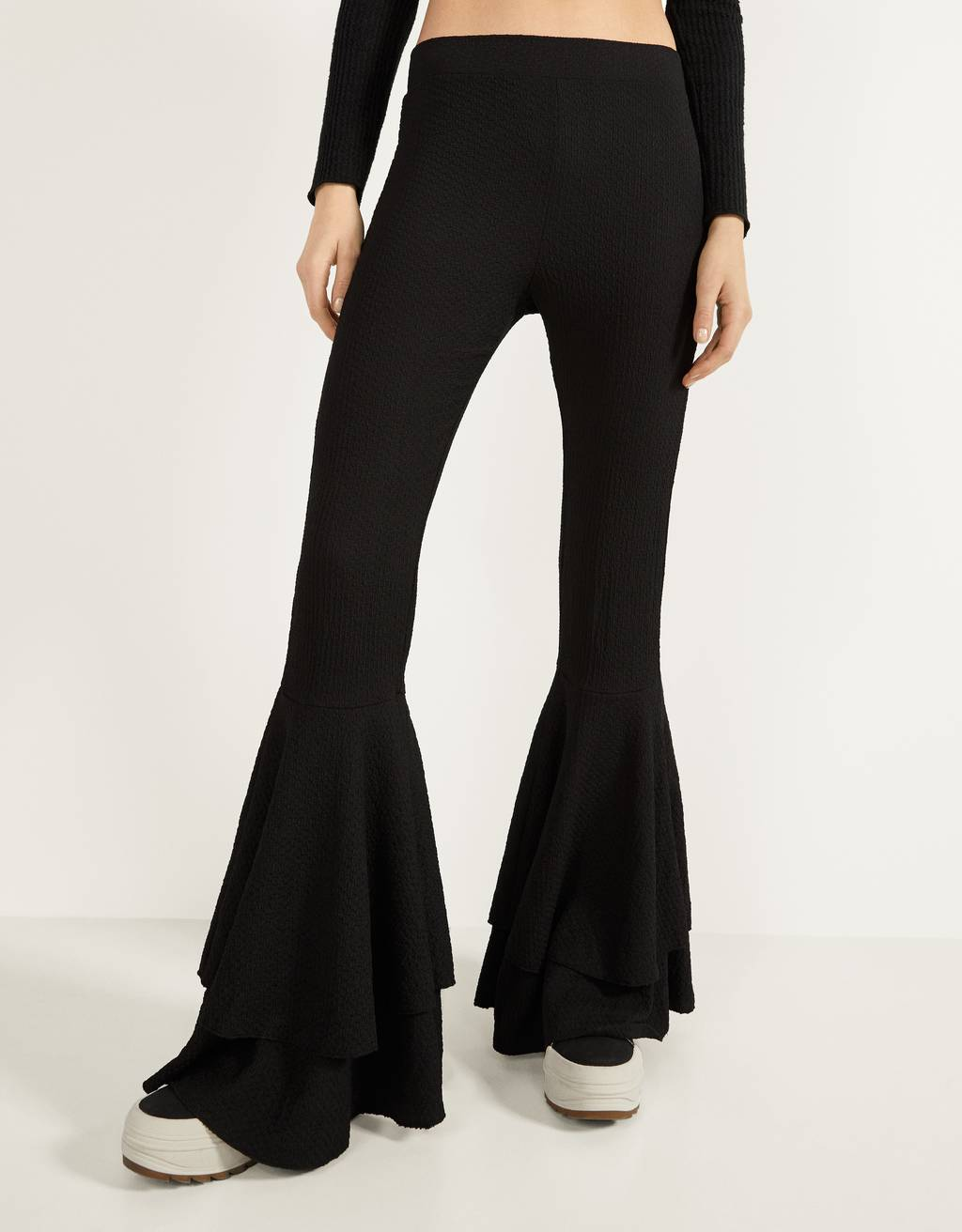 Flare Fit trousers with ruffles