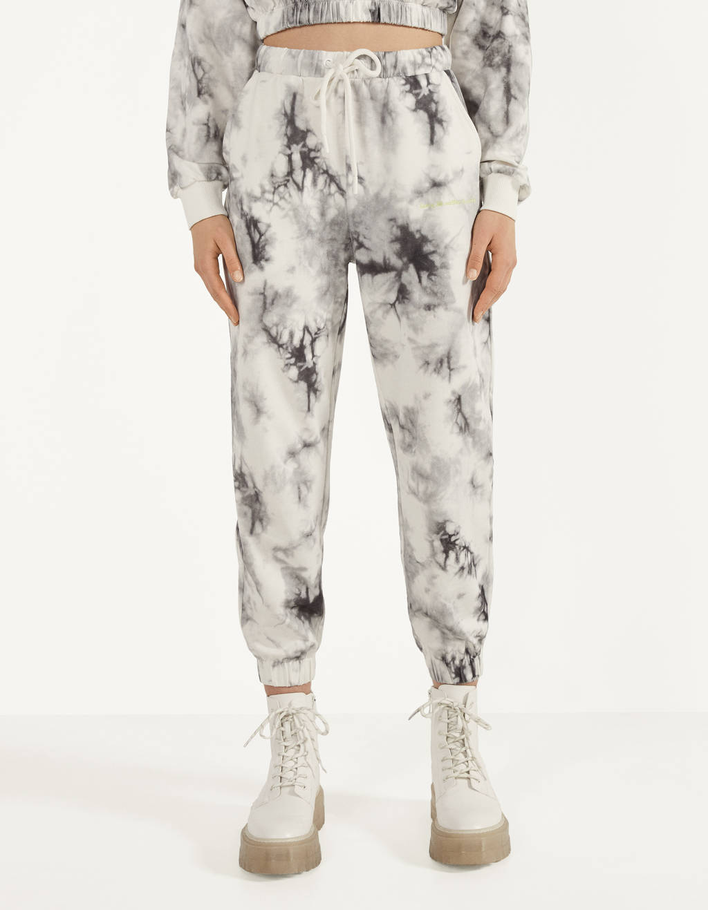Sweatpants with a tie-dye print