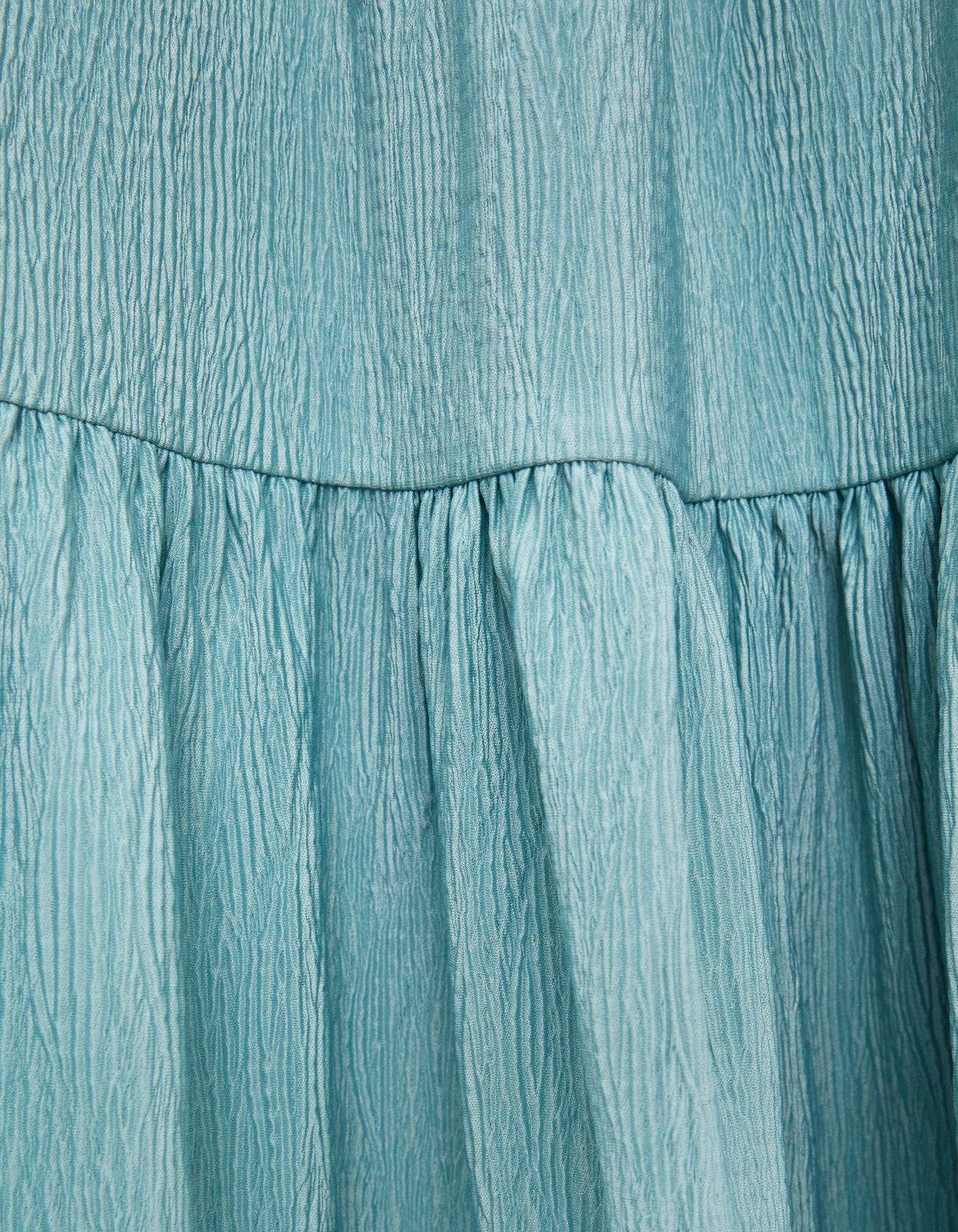 Платье с объемными рукавами Синий застиранный Bershka