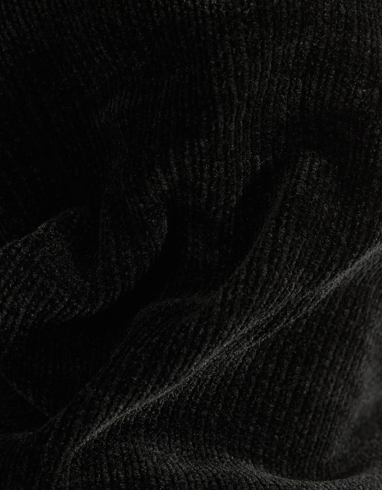 Платье с воланами и рукавами-фонариками ЧЕРНЫЙ Bershka
