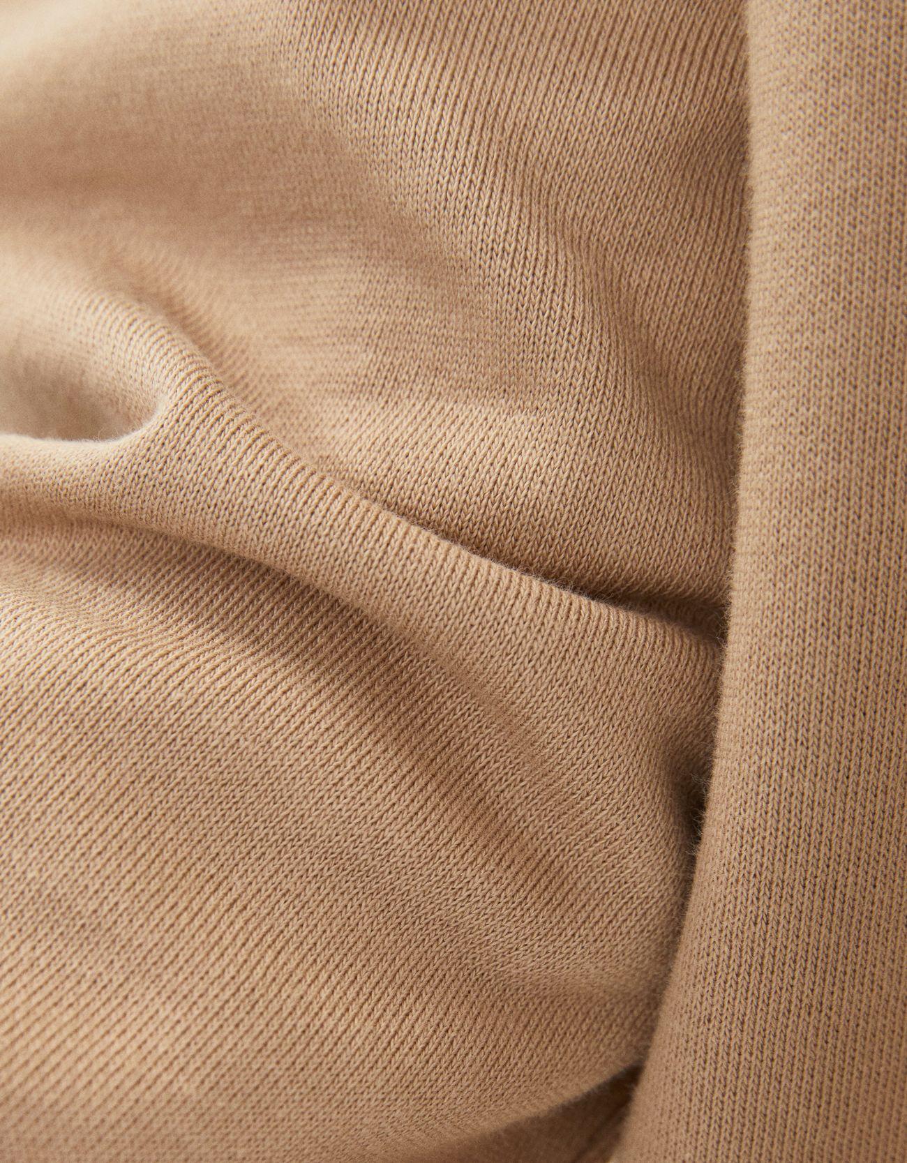 Платье из мягкой ткани с юбкой из поплина Верблюжий Bershka