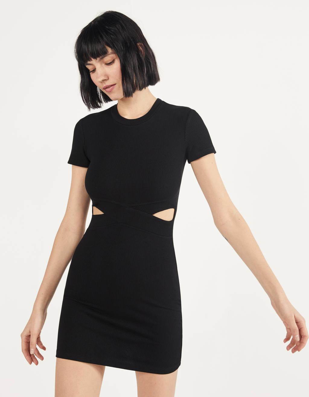 Korte jurk met split