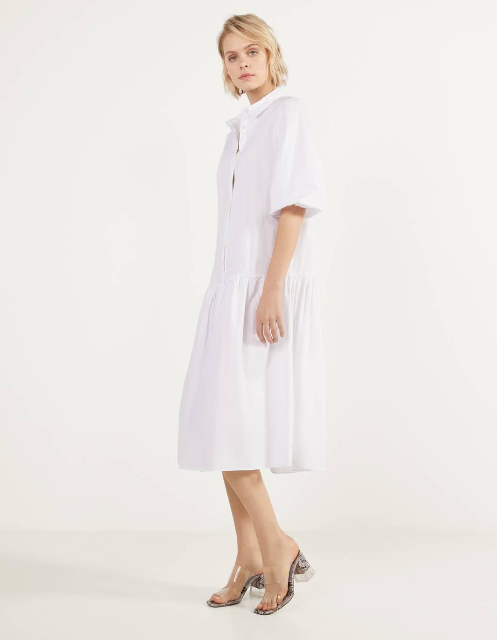 Long poplin dress