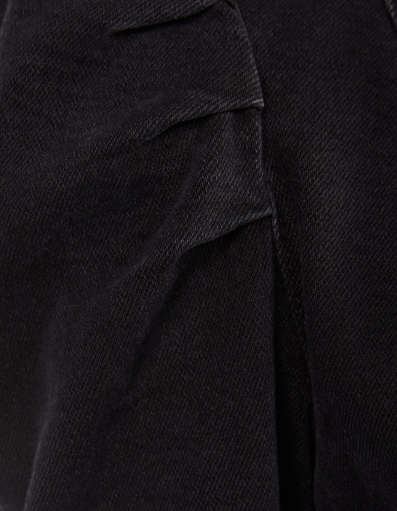 Джинсовое платье с молнией ЧЕРНЫЙ Bershka