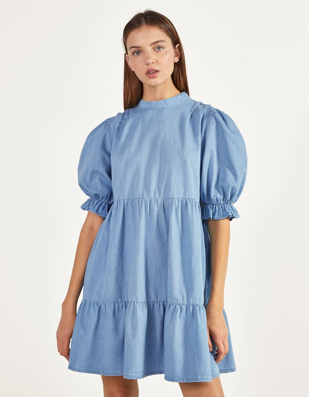 Denim baby-doll dress