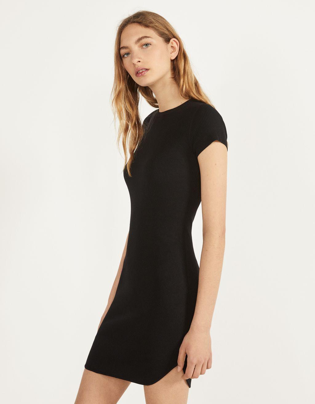 Fitilli kısa elbise