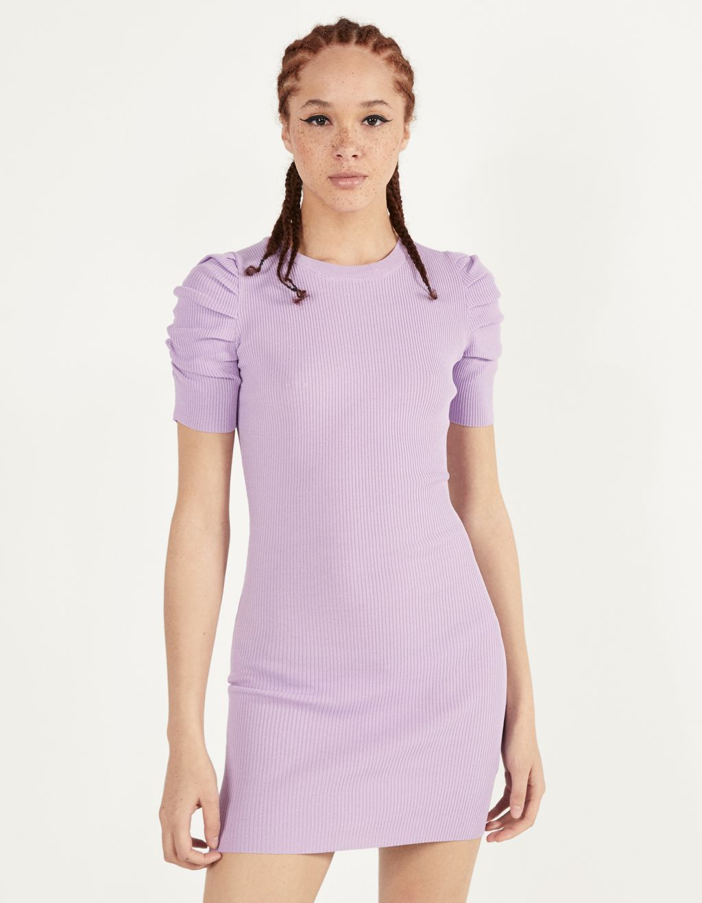Puff sleeved short dress