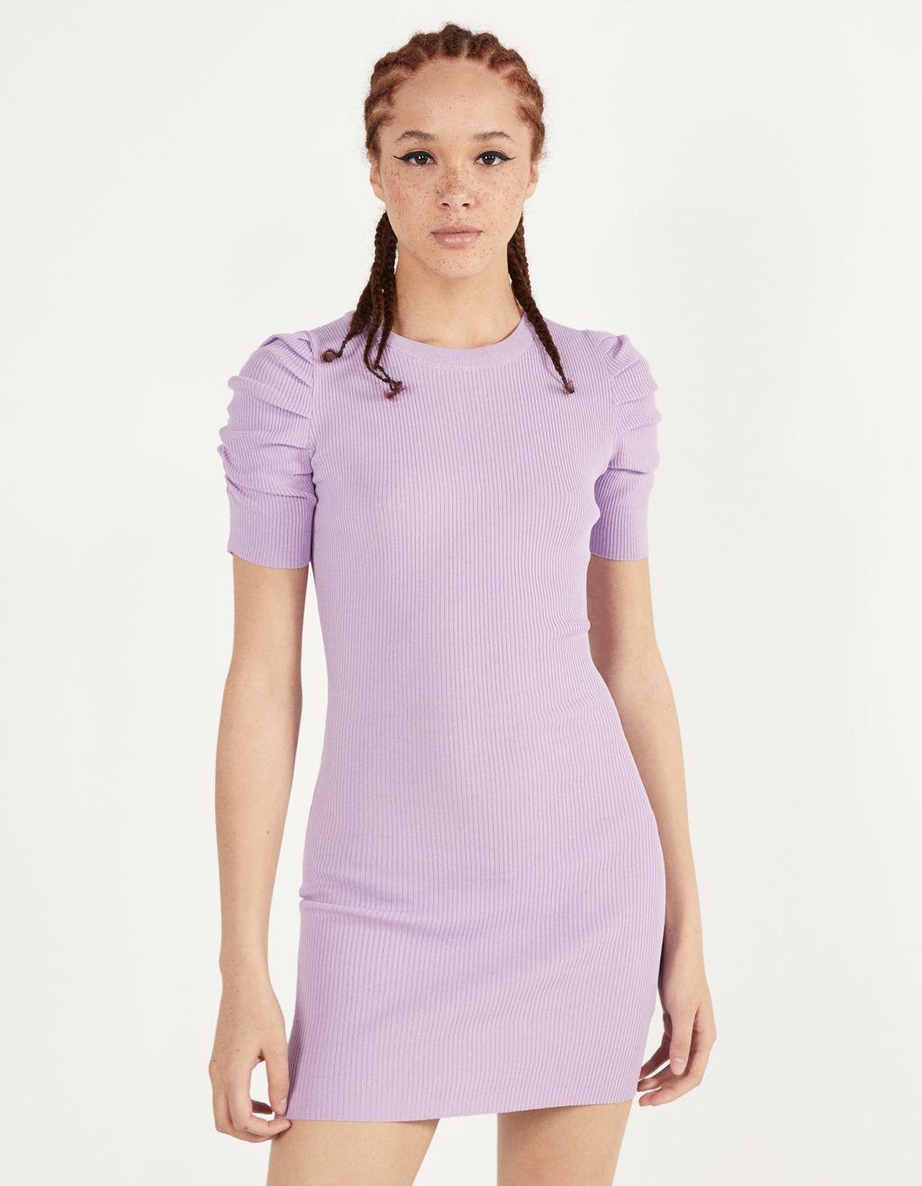Puff sleeved short dress