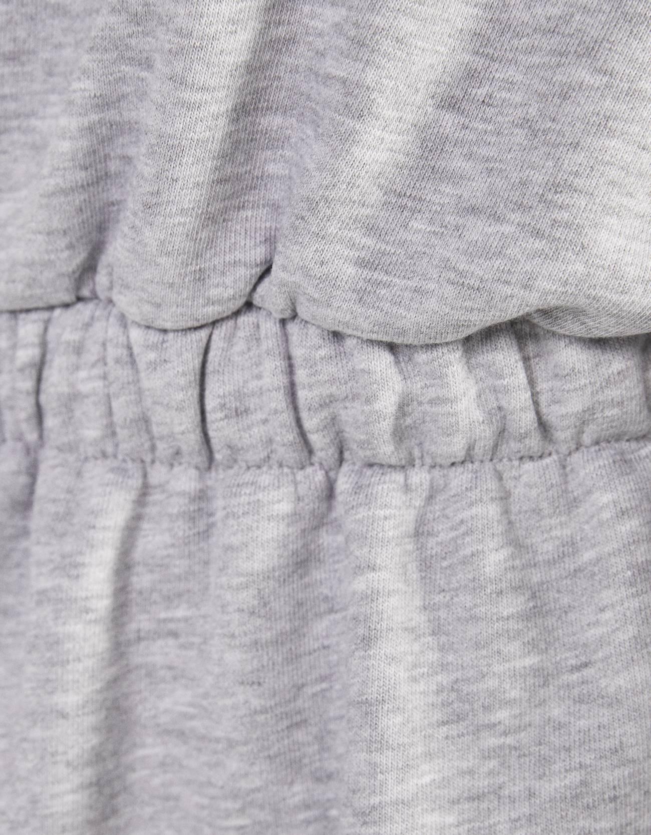 Платье из мягкой ткани со сборкой на талии СЕРЫЙ Bershka
