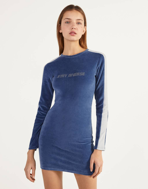 Short velvet dress