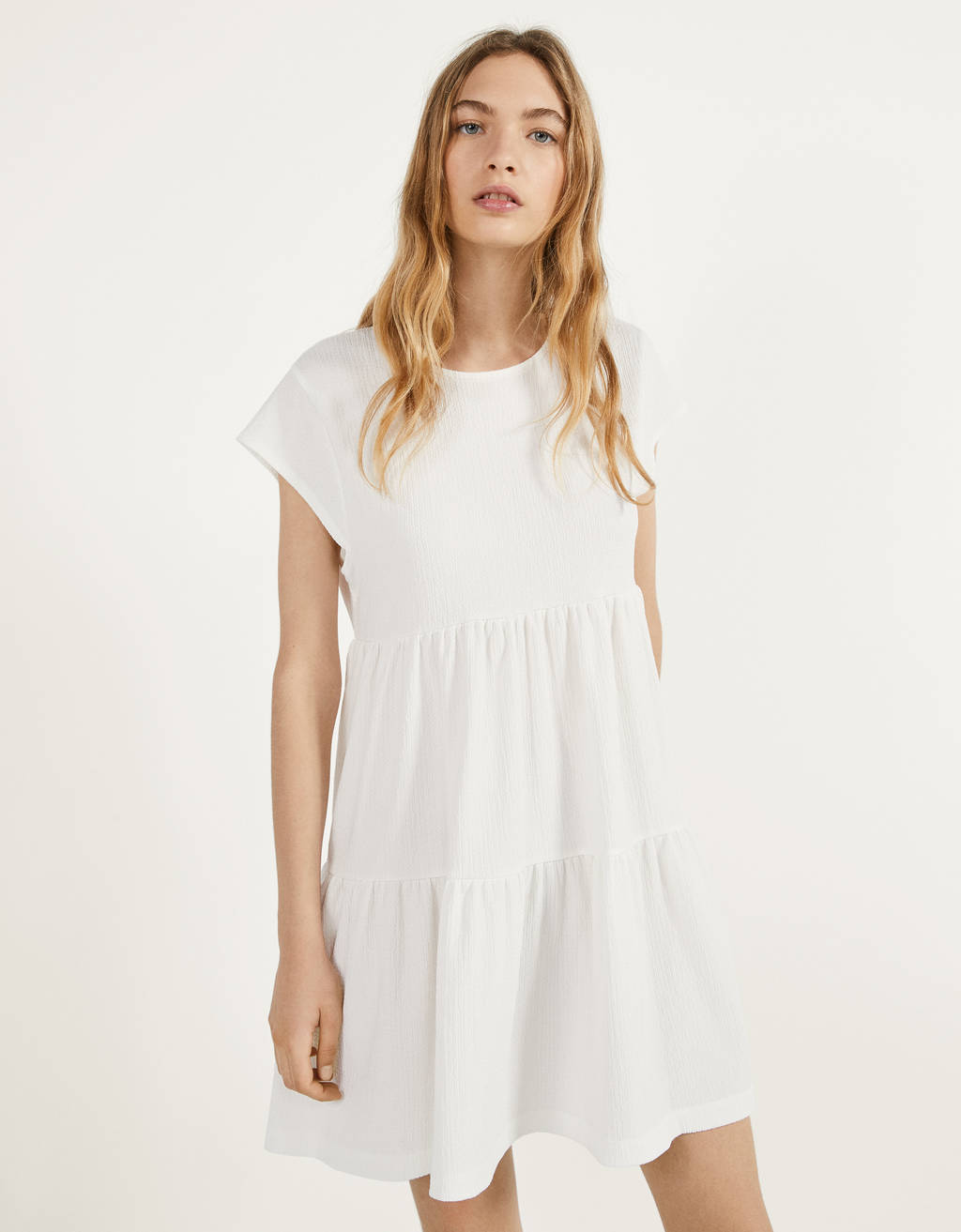 Baby-doll short sleeve dress