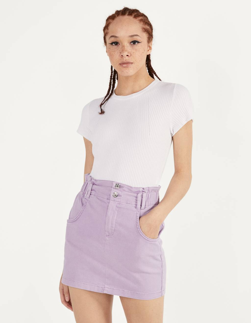 Krátká sukně paperbag