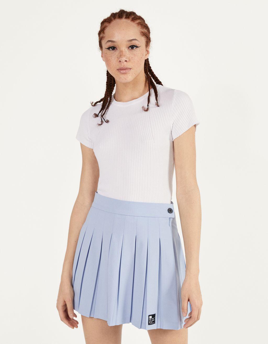 Plisuotas mini sijonas