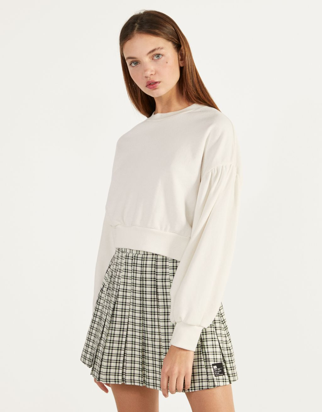 Pleated mini skirt