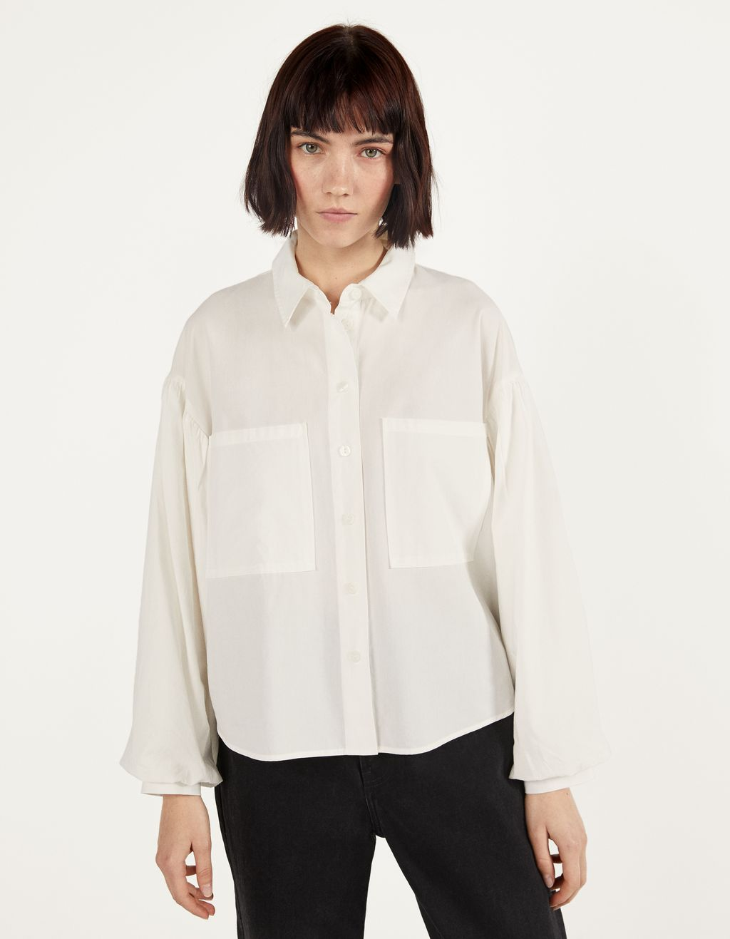 Oversized overhemdblouse