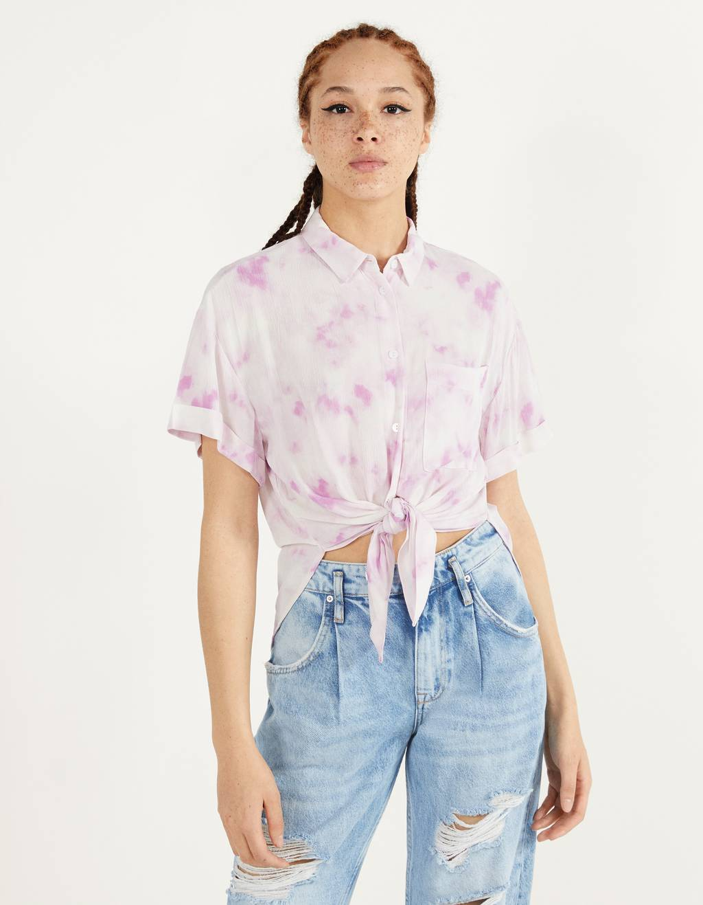 Long knotted shirt