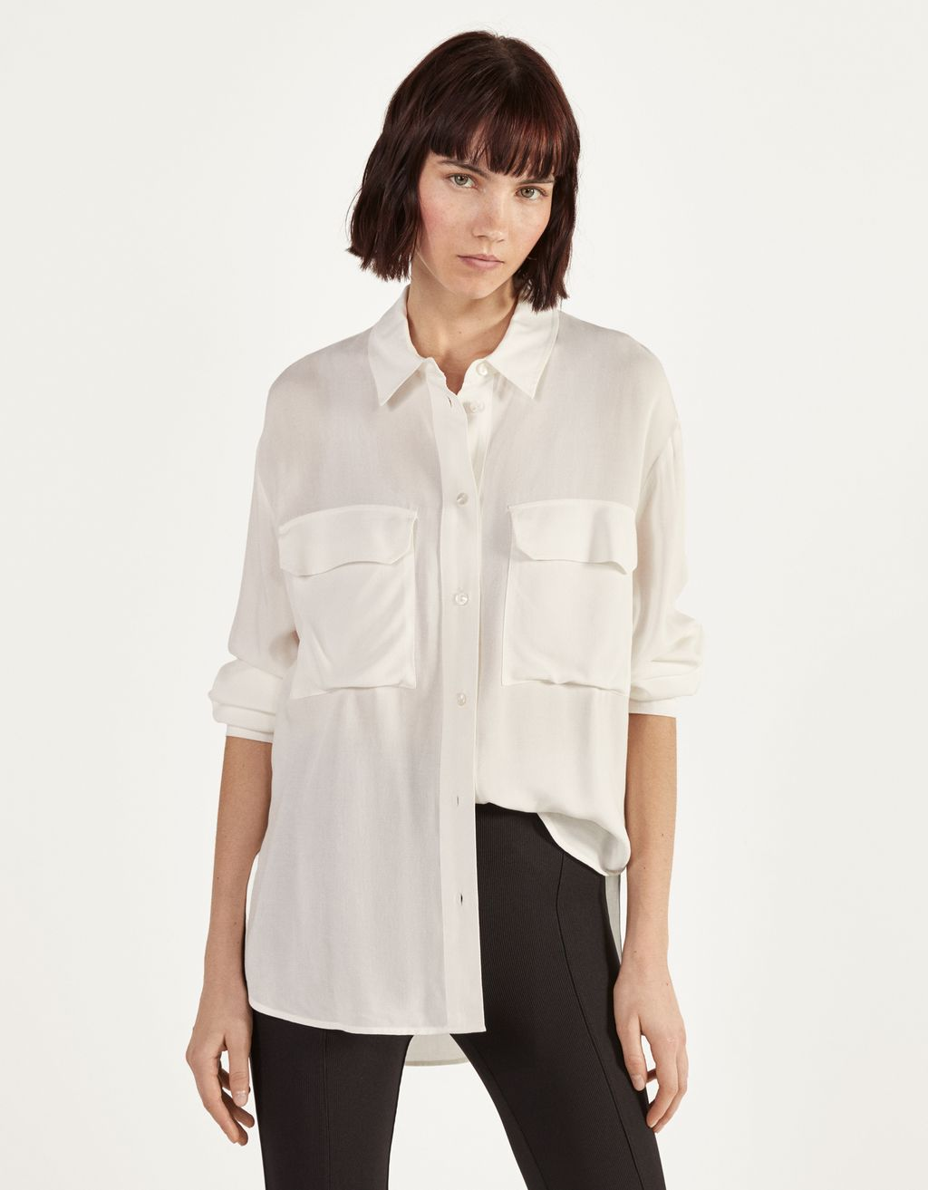 Long shirt with slits