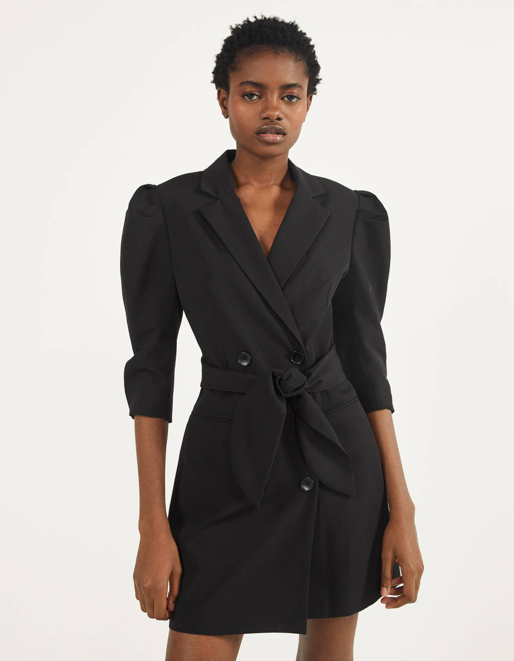 Full sleeve blazer dress