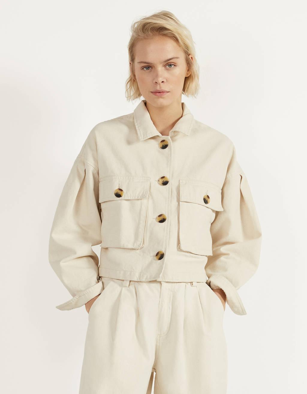 Куртка с объемными рукавами