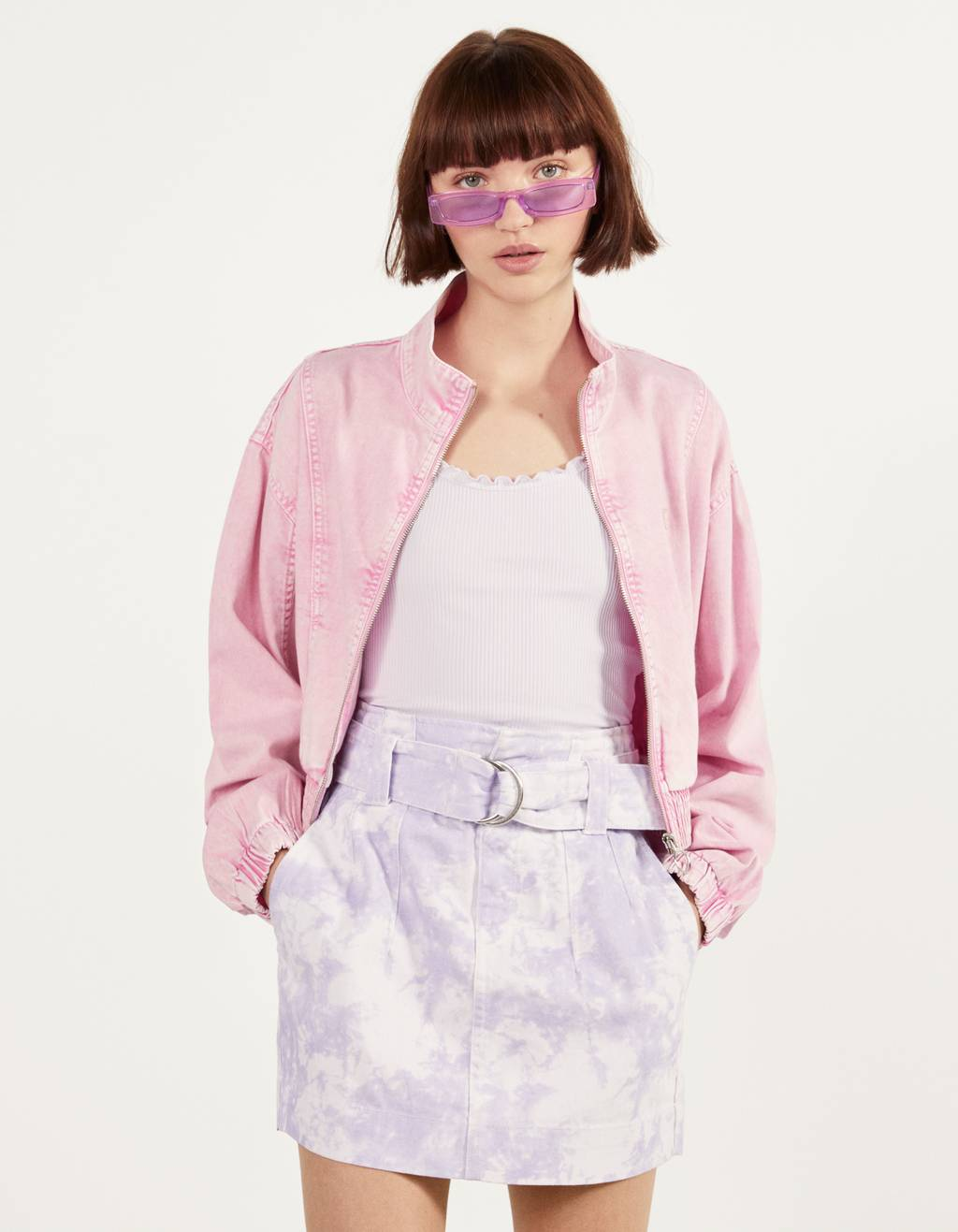 Cropped cotton jacket