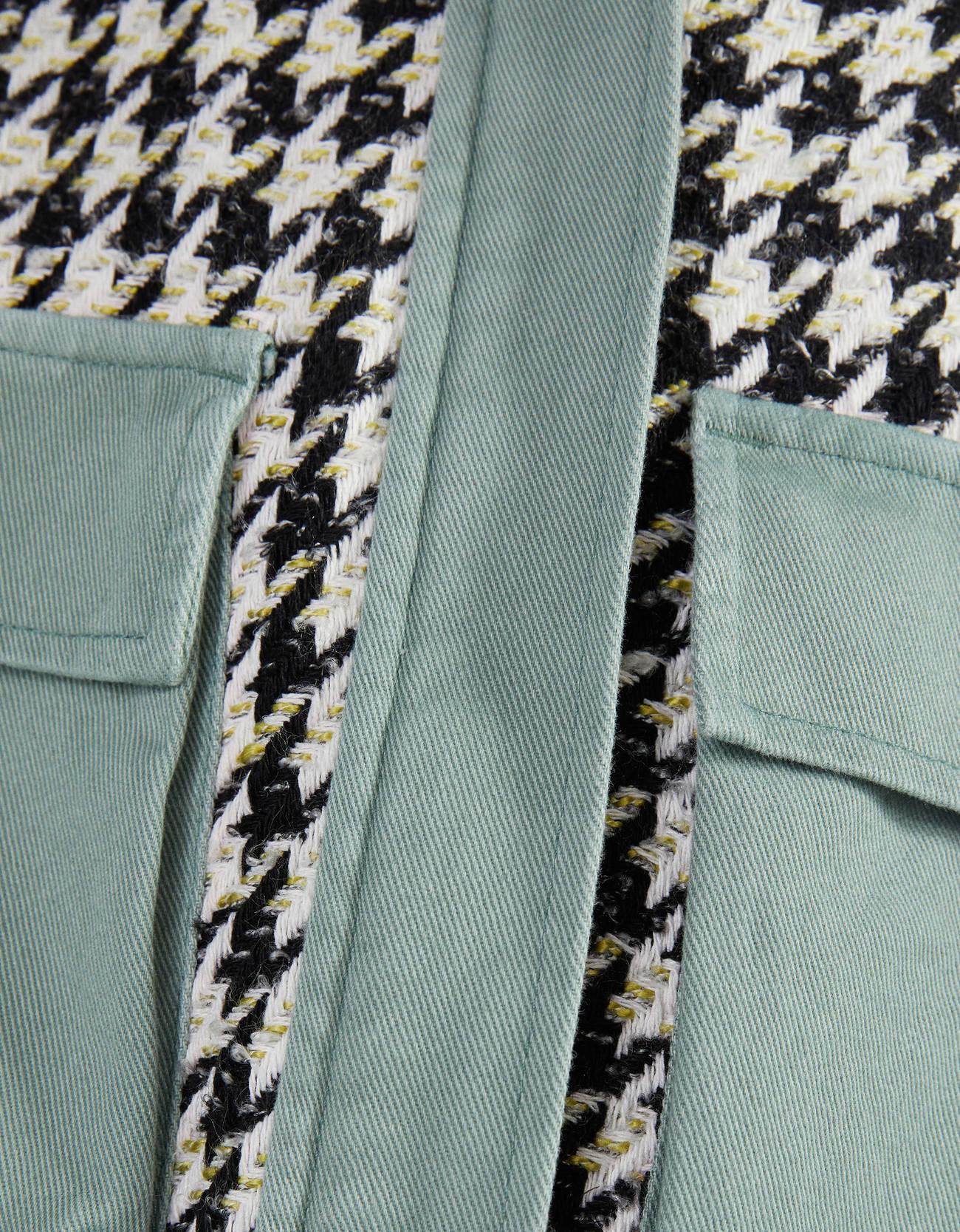 Пиджак из смесового твида Хаки Bershka