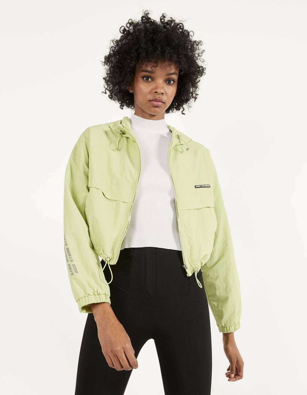 Куртка с капюшоном и светоотражающими деталями