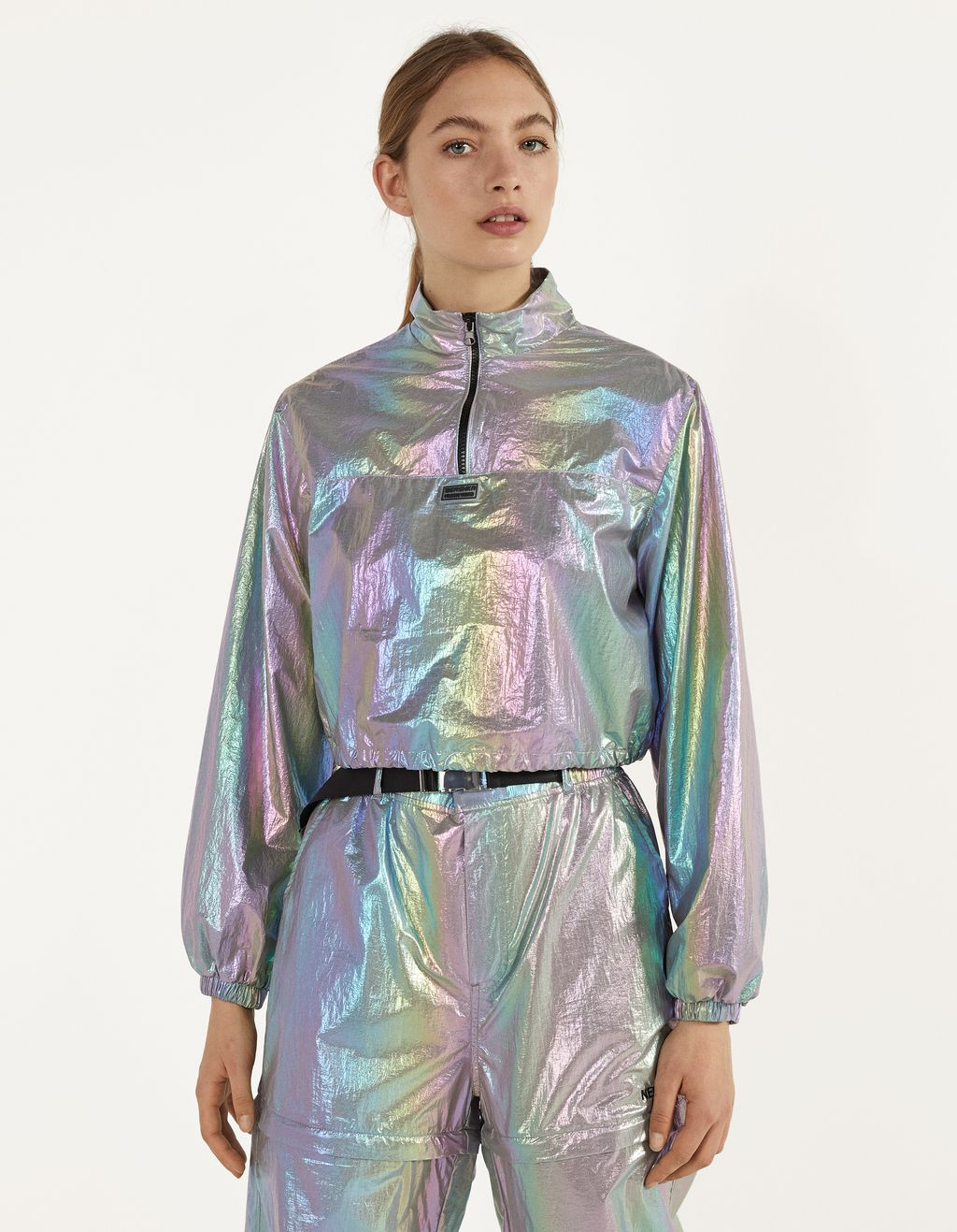 Iridescent anorak jacket