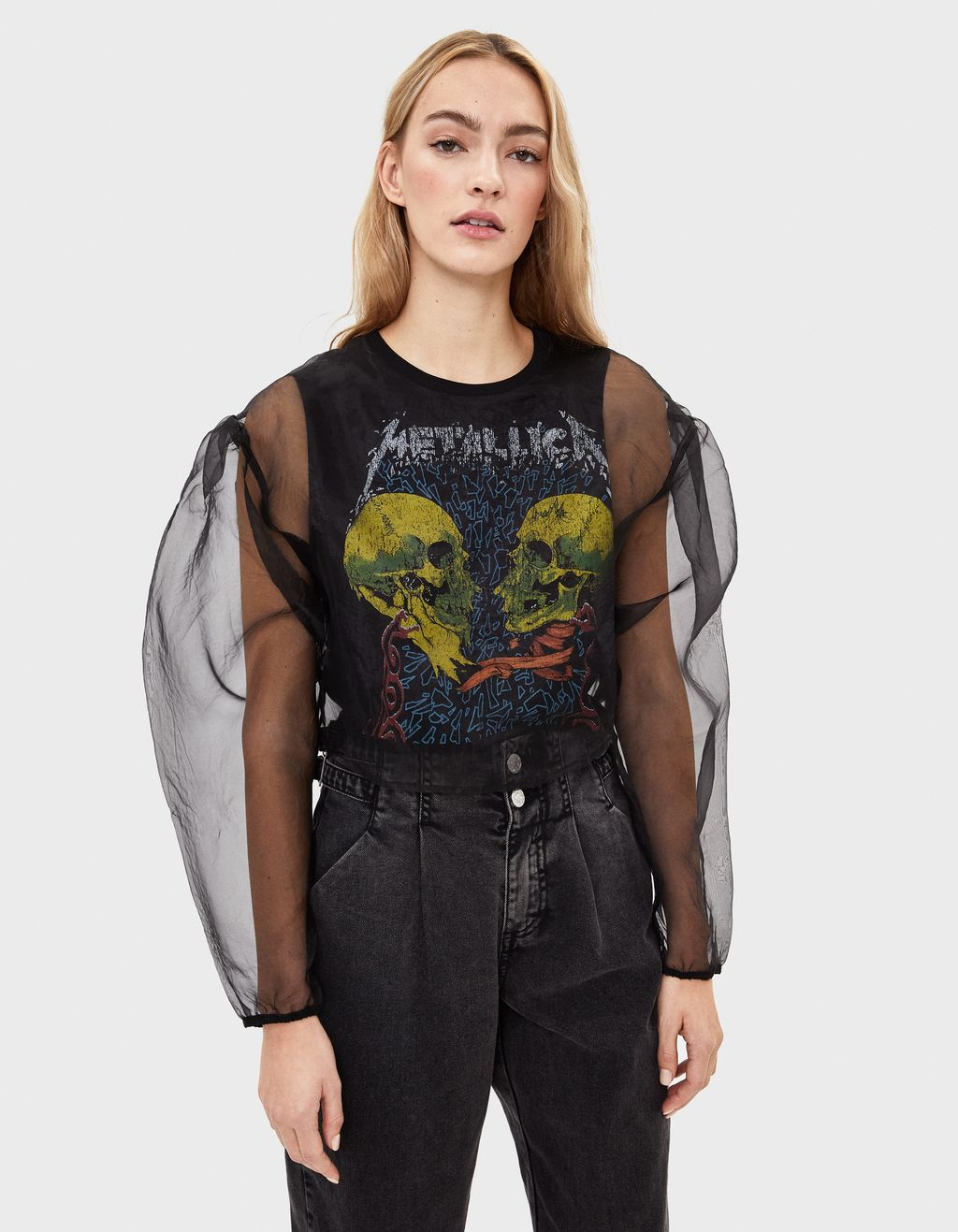 Metallica organza top
