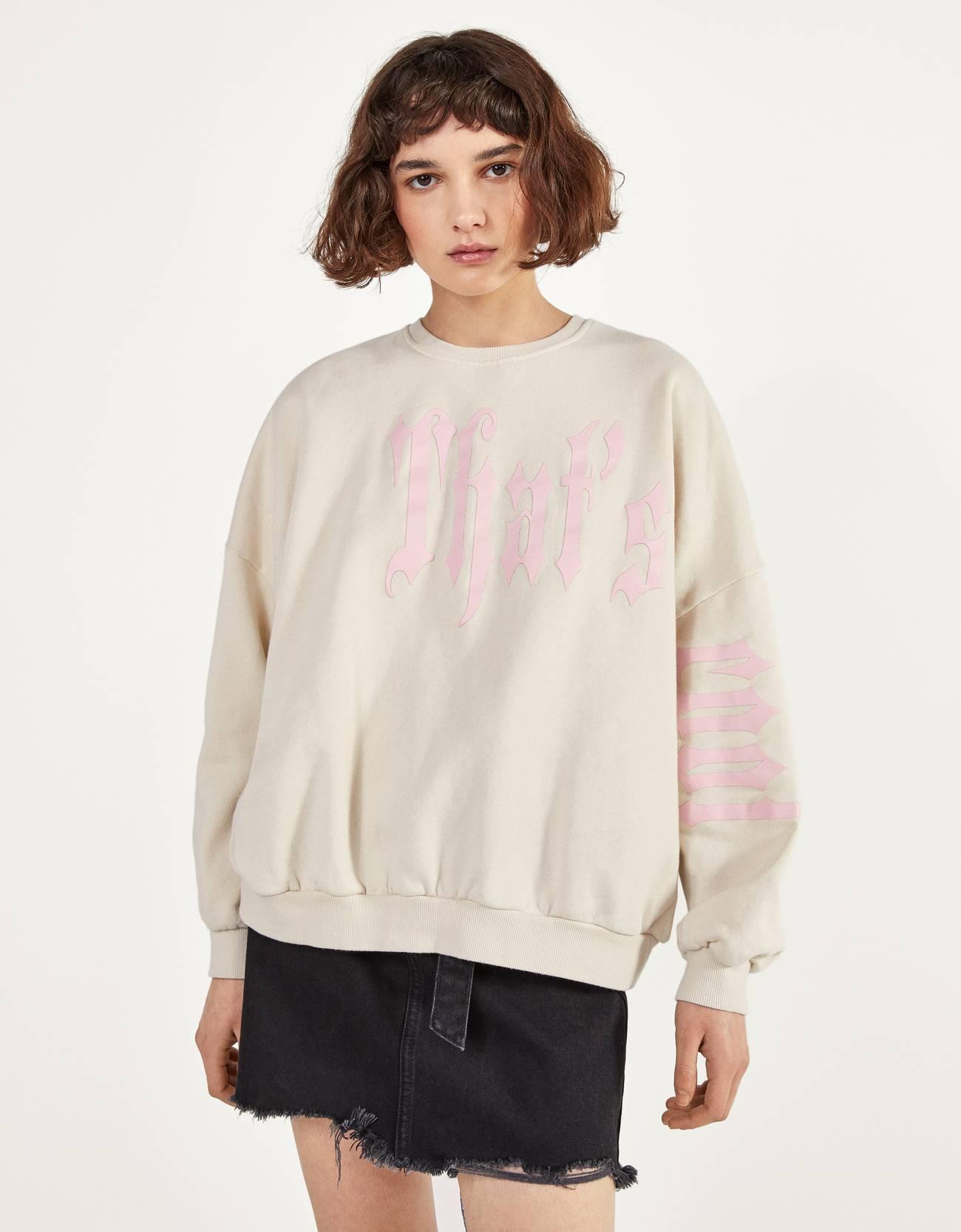 Full sleeve sweatshirt with print