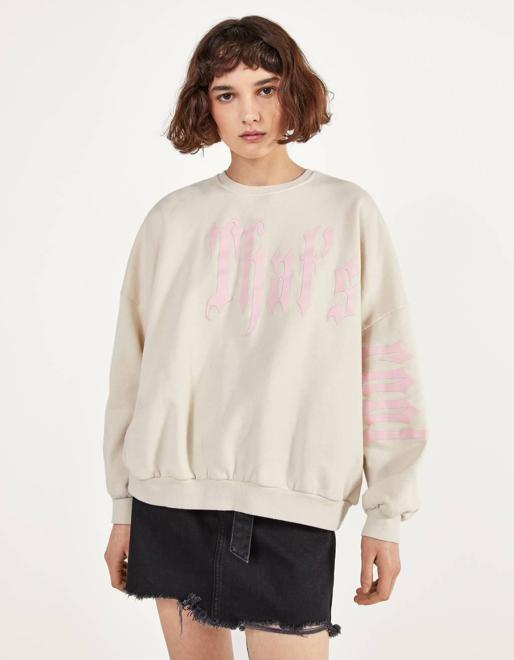 Full sleeve sweatshirt with print
