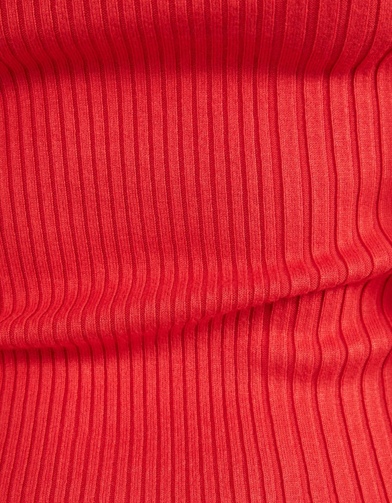 Свитер из трикотажа в рубчик Красный Bershka
