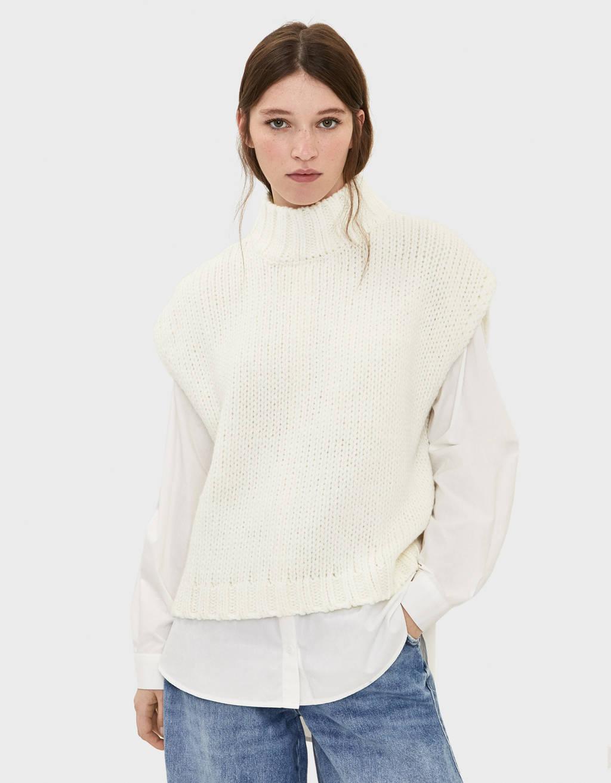 High neck vest