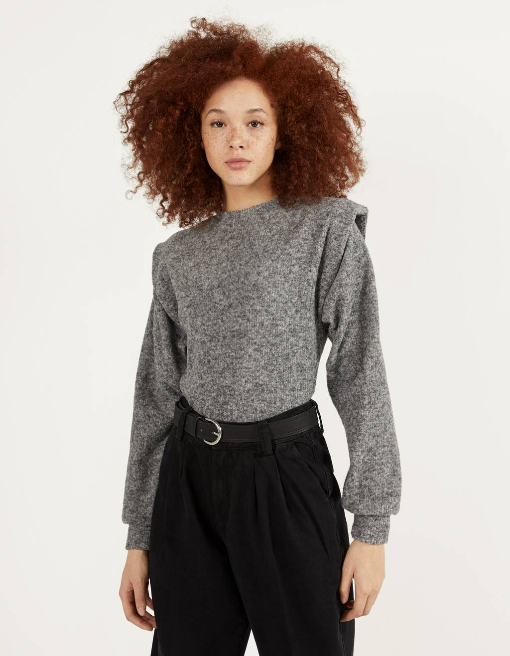 Sweatshirt de gola alta