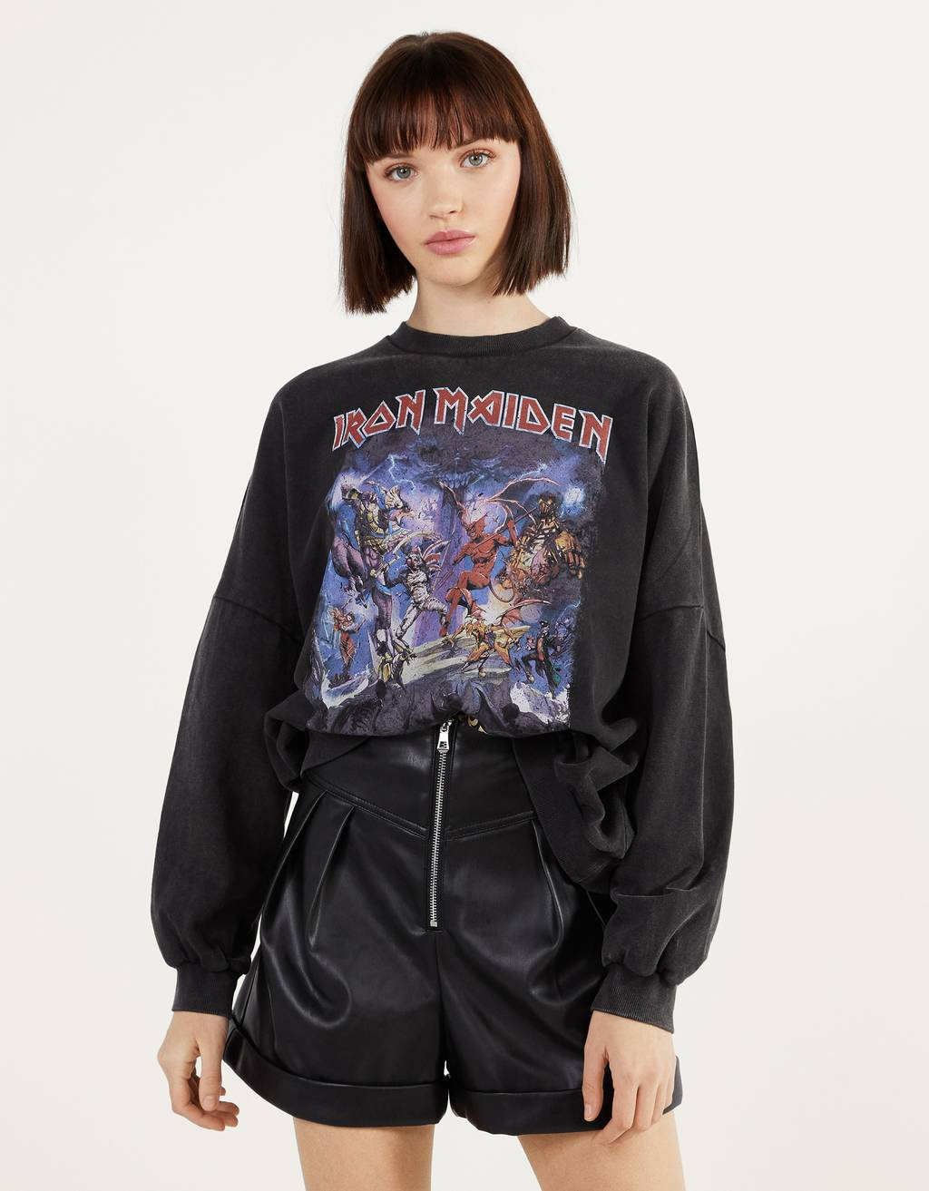 Sweatshirt med Iron Maiden