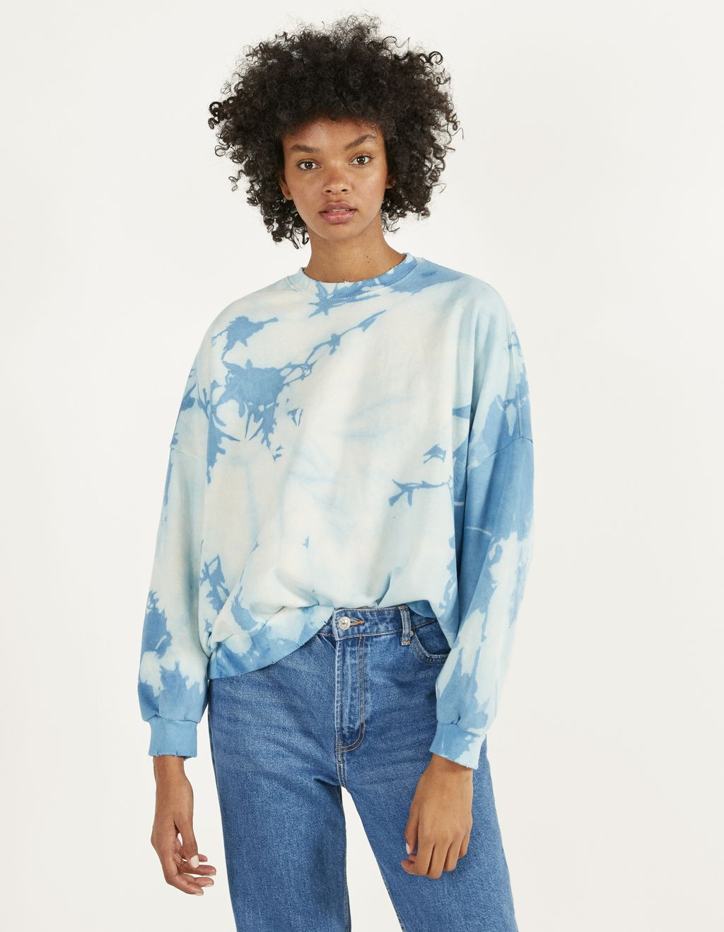 Oversize tie-dye sweatshirt