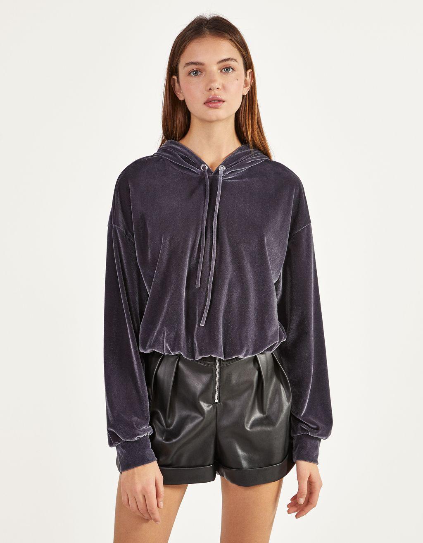 Velvet hoodie