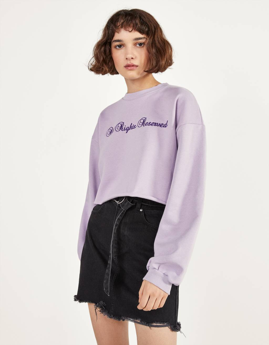 Sweatshirt cropped com estampado