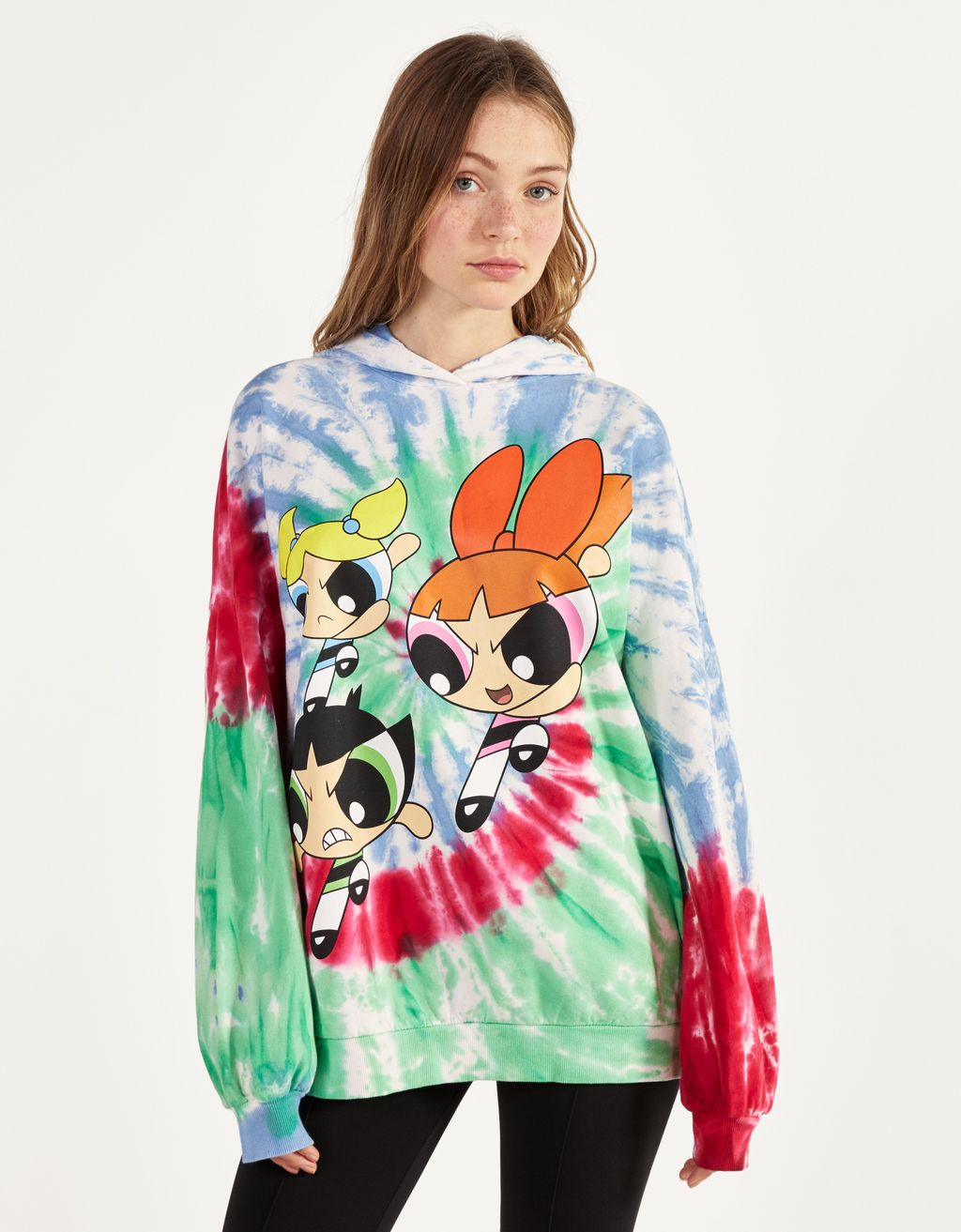 The Powerpuff Girls x Bershka pulover s kapuco