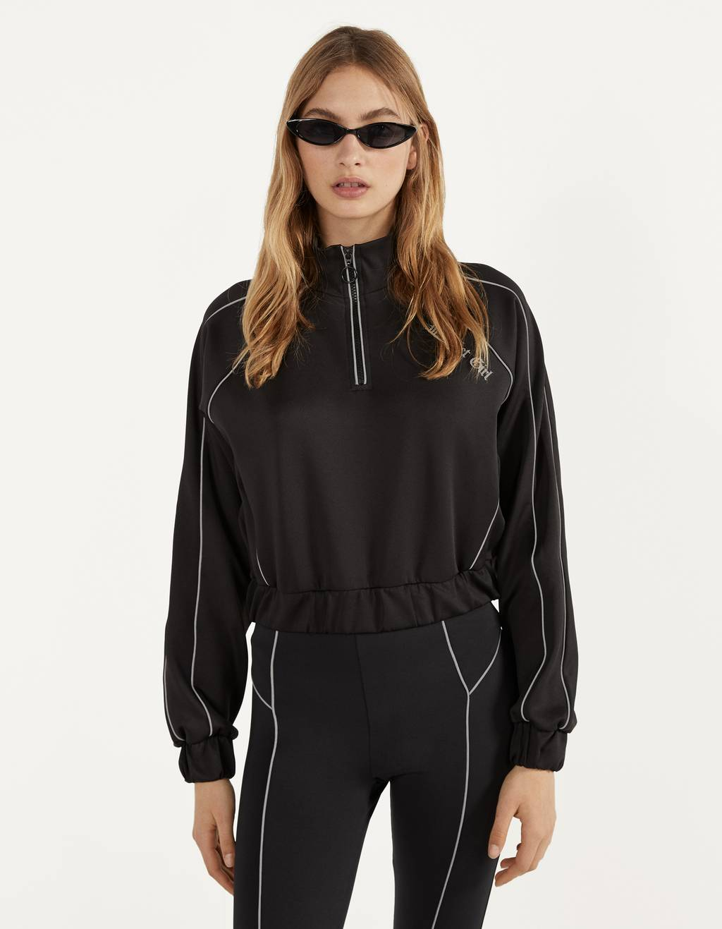 Sweatshirt with reflective detail