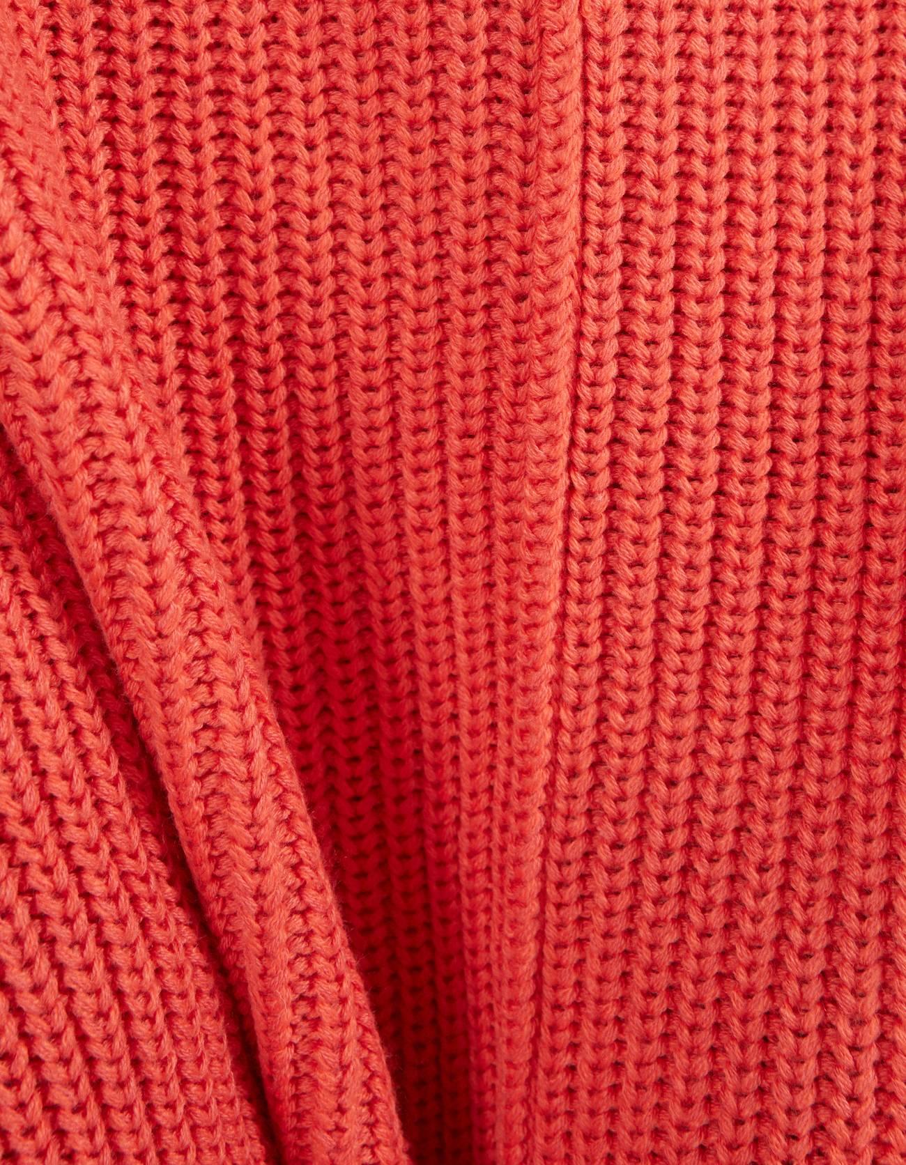 Свитер оверсайз с круглым вырезом Красный Bershka