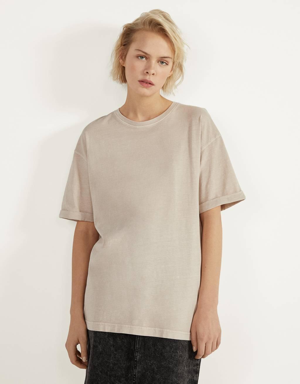 Oversize-Shirt mit kurzen Ärmeln